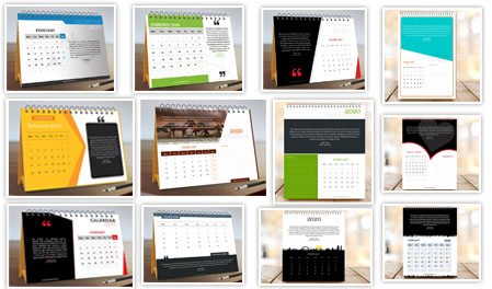 Month Calendar with Quote - Waves of hands hesitations at