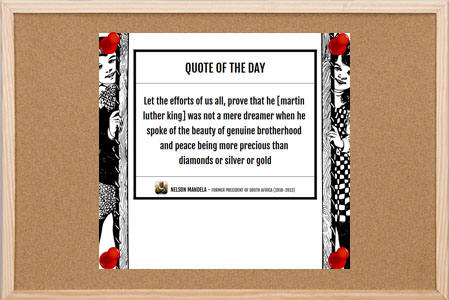 Quote of the Day Bulletin Board Poster with Kids on Sides