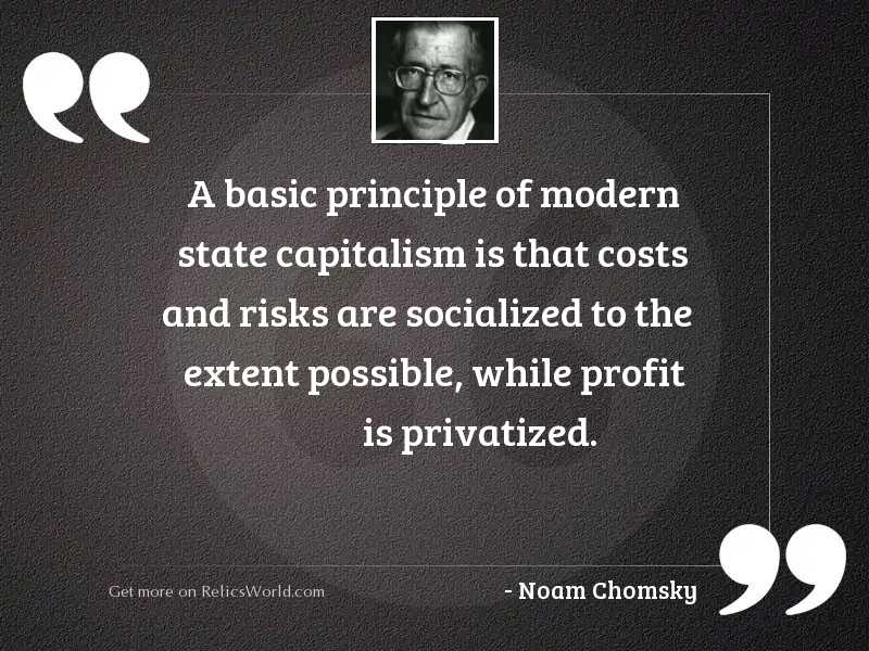 A basic principle of modern
