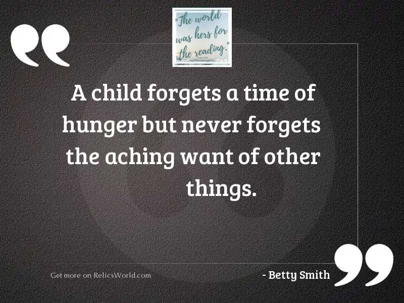 A child forgets a time
