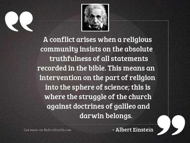 A conflict arises when a