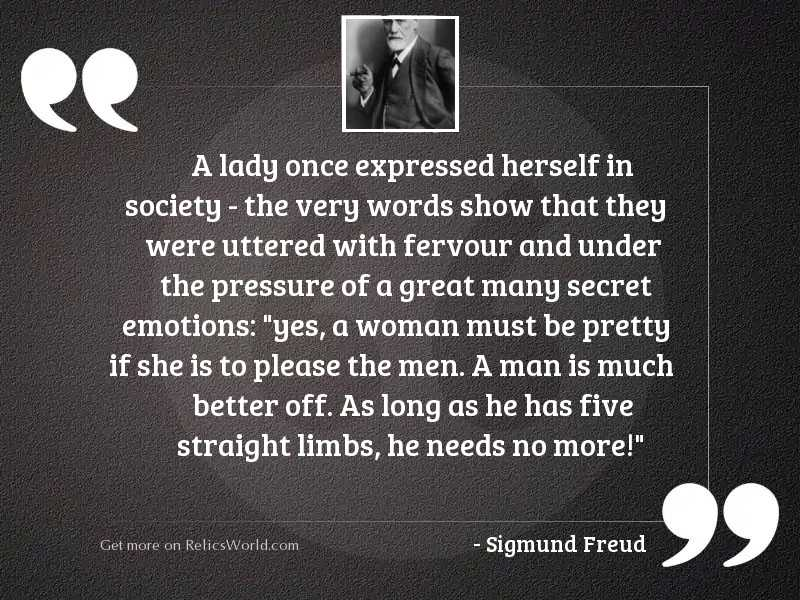 A lady once expressed herself