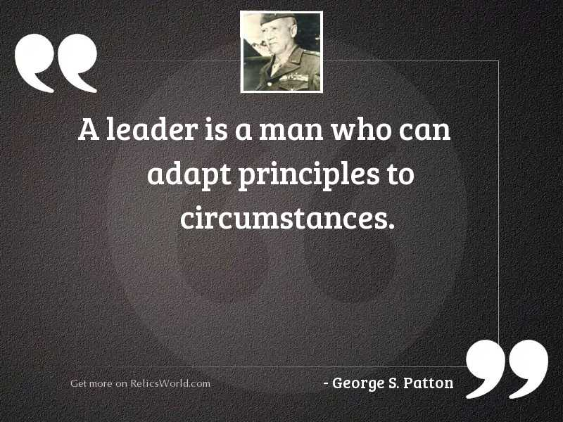 A leader is a man