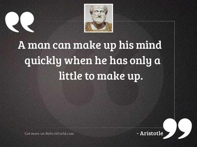 A man can make up
