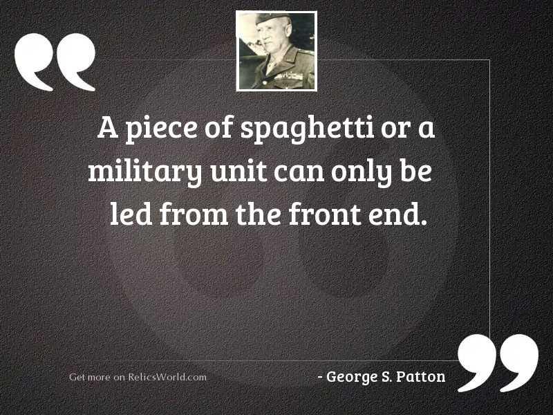 A piece of spaghetti or