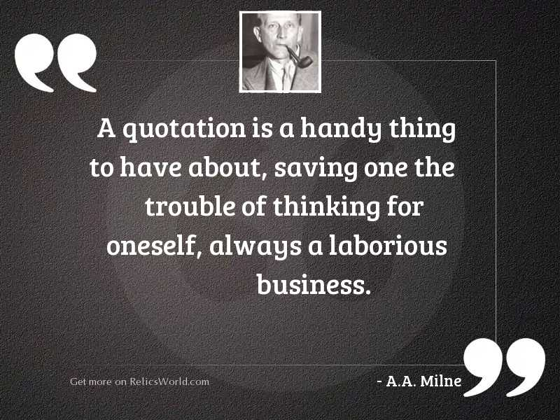 A quotation is a handy