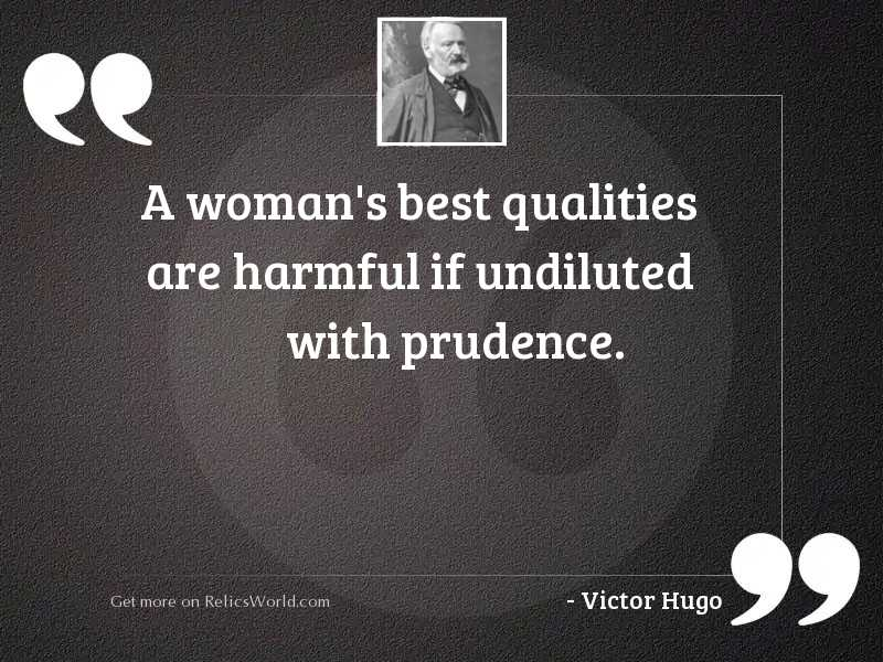 A woman's best qualities