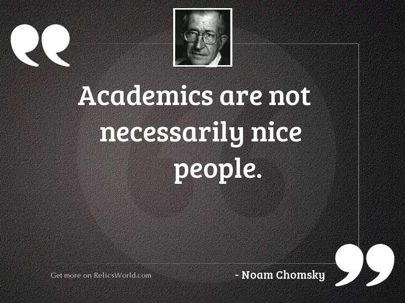 Academics are not necessarily nice