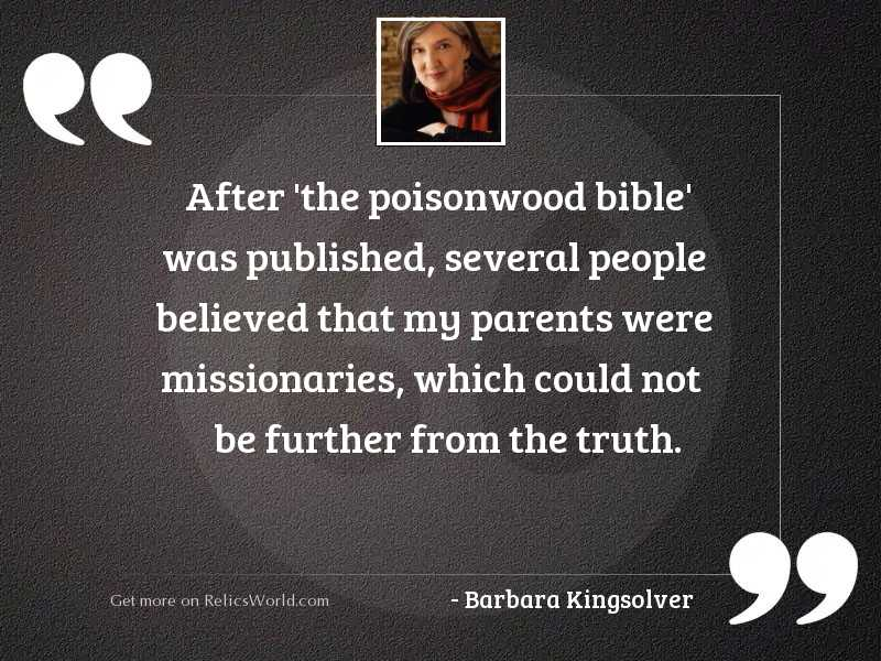 After 'The Poisonwood Bible' was