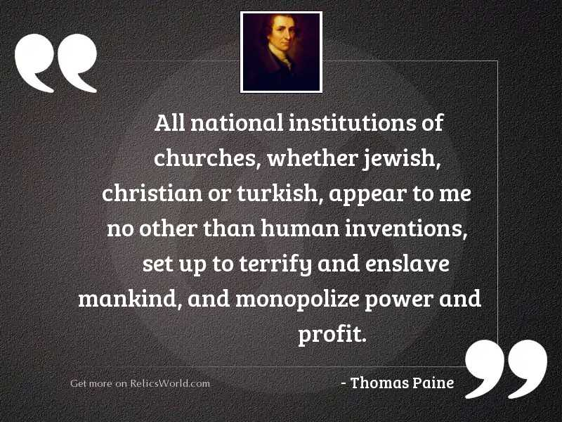 All national institutions of churches,