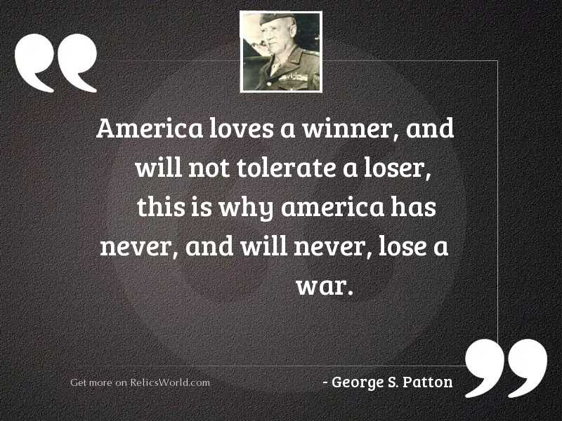America loves a winner, and