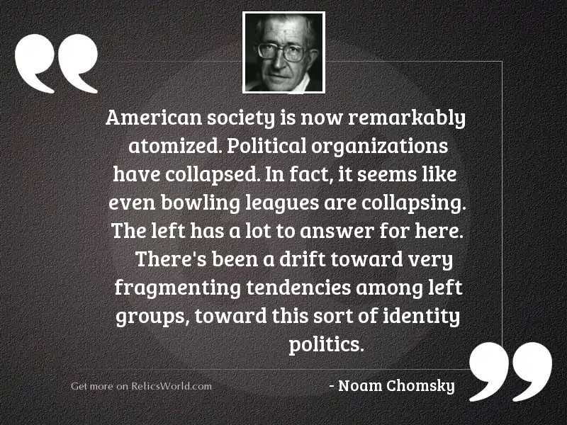 American society is now remarkably
