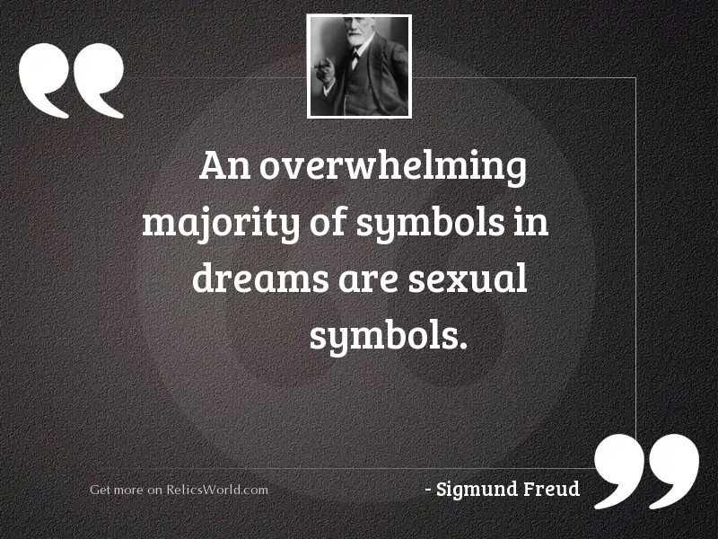 An overwhelming majority of symbols