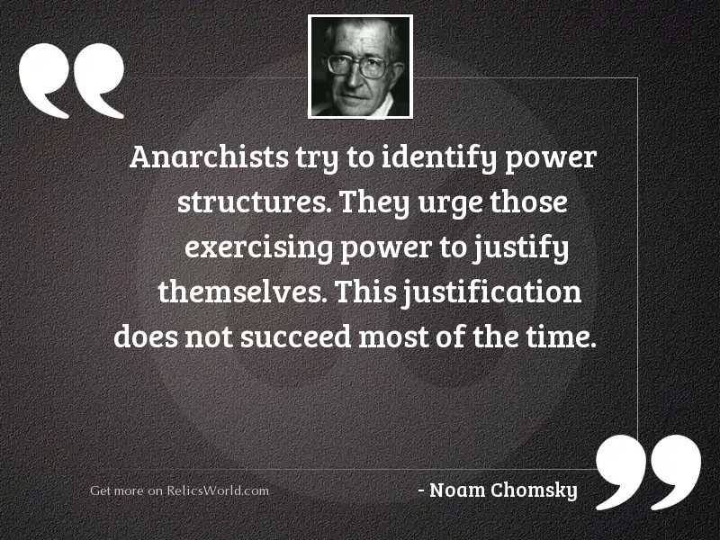Anarchists try to identify power