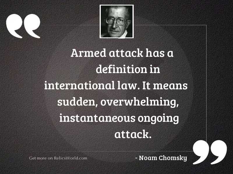 Armed attack has a definition