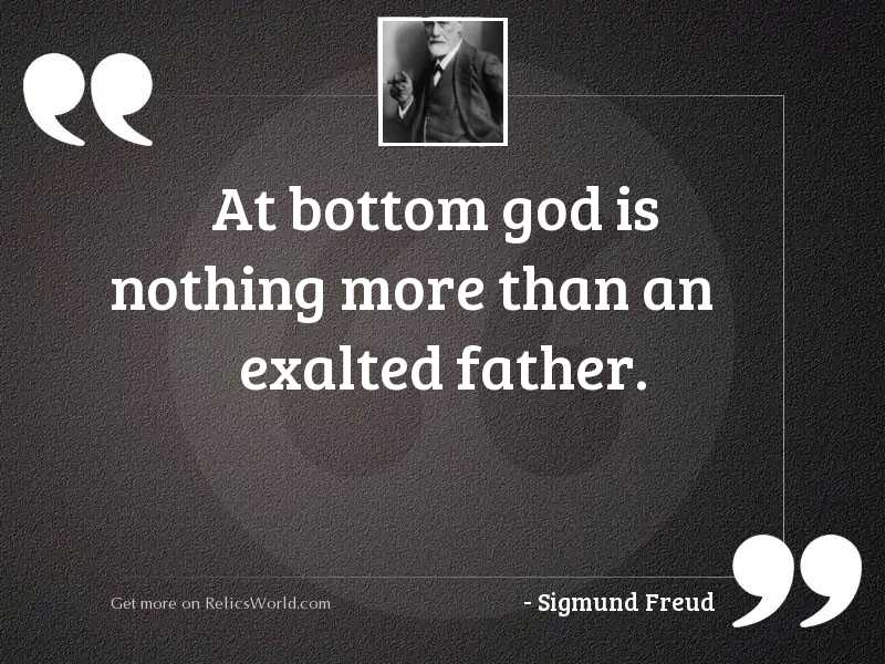 At bottom God is nothing