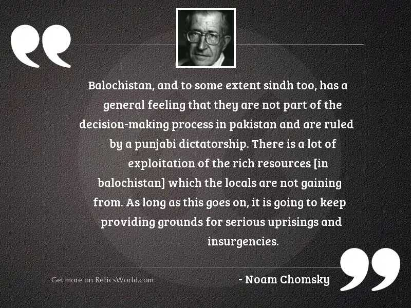 Balochistan, and to some extent