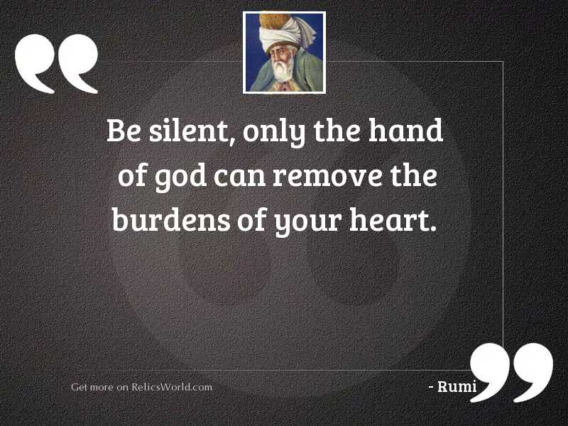 Be silent, Only the Hand