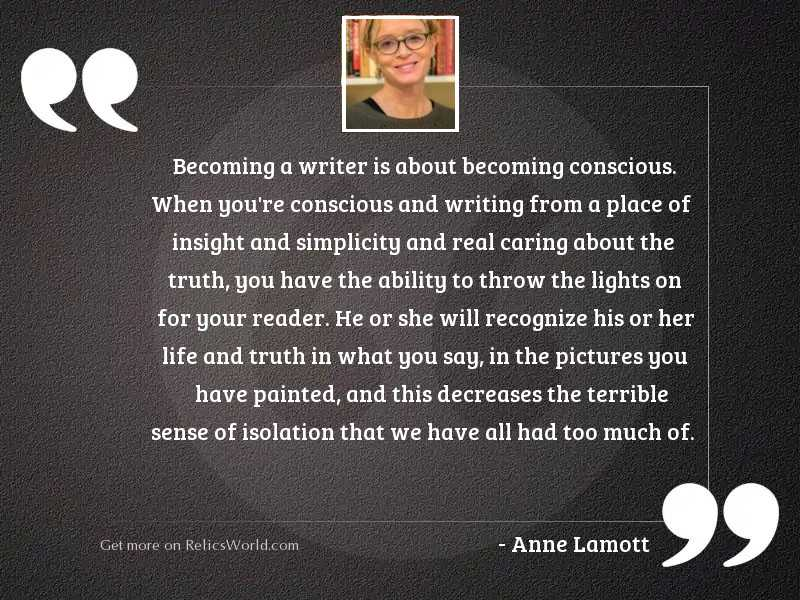 Becoming a writer is about