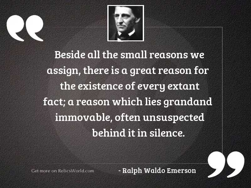 Beside all the small reasons
