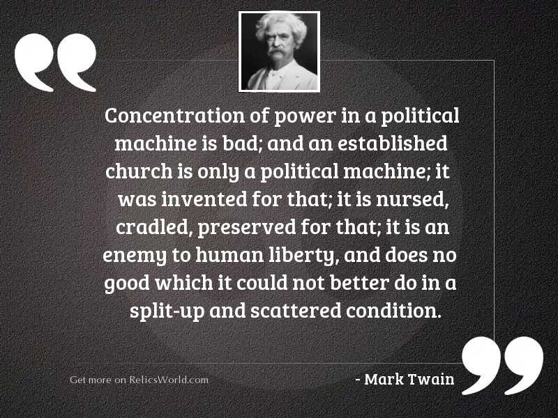 Concentration Of Power In A Inspirational Quote By Mark Twain