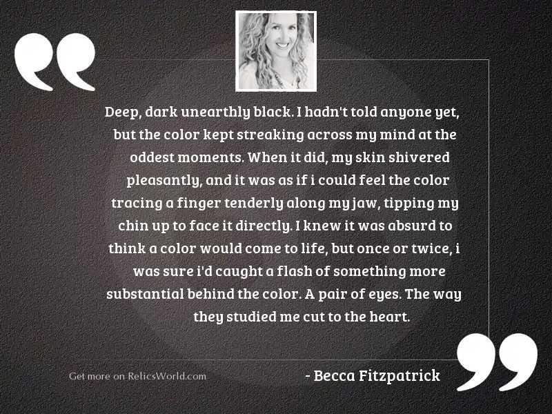Deep dark unearthly black I