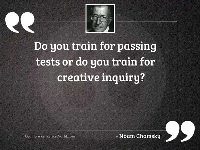 Do you train for passing