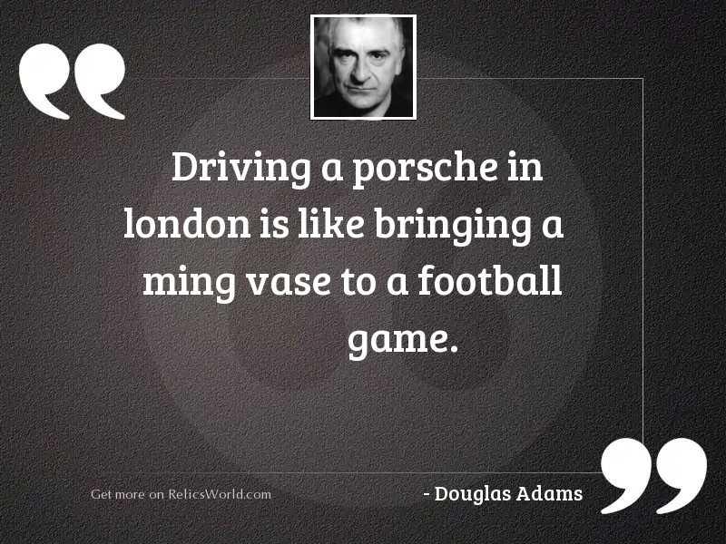 Driving a Porsche in London