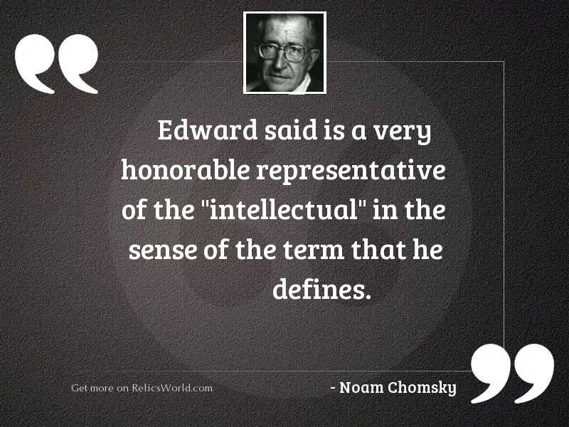 Edward Said is a very