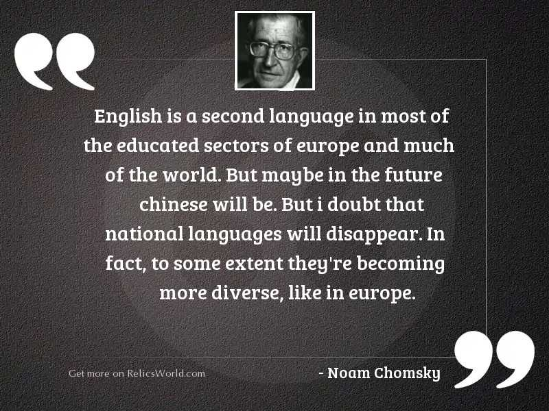 English is a second language