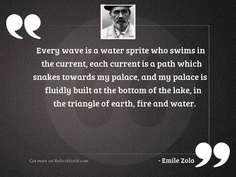 Every wave is a water