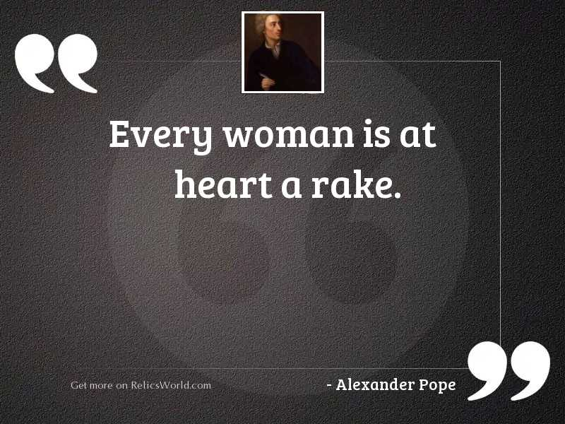 Every woman is at heart