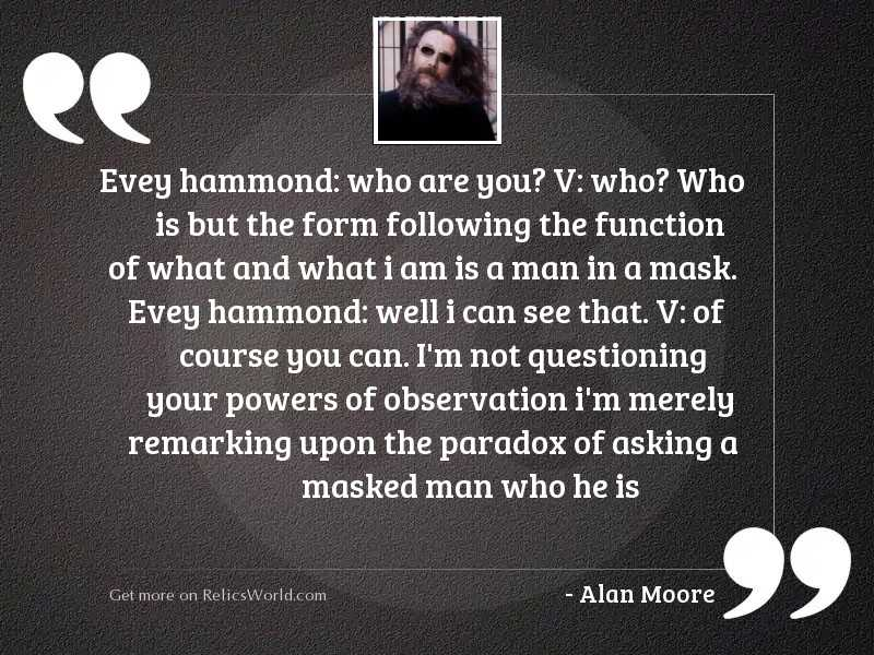 Evey Hammond: Who are you?