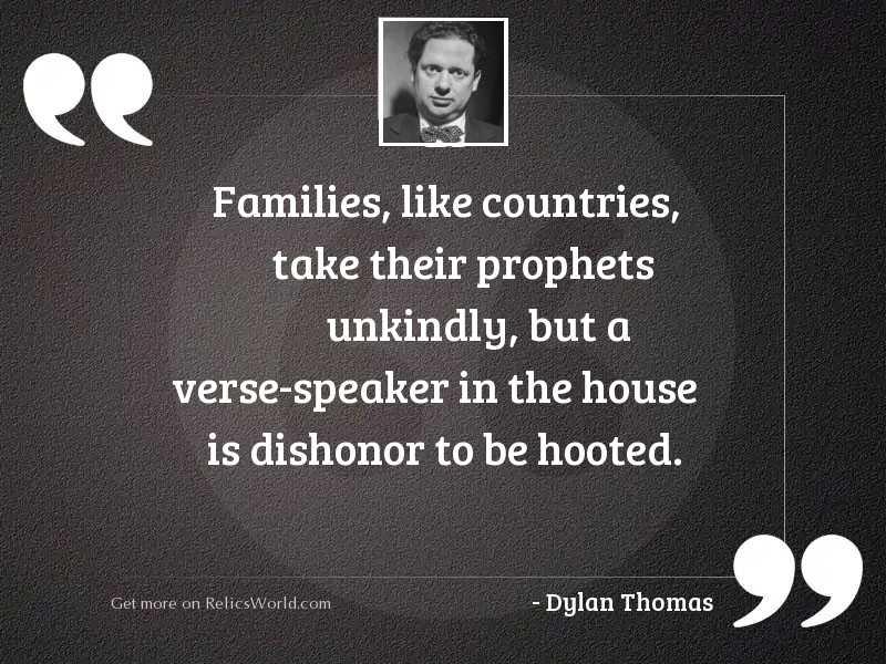Families like countries take their