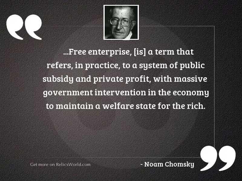 Free enterprise is a term