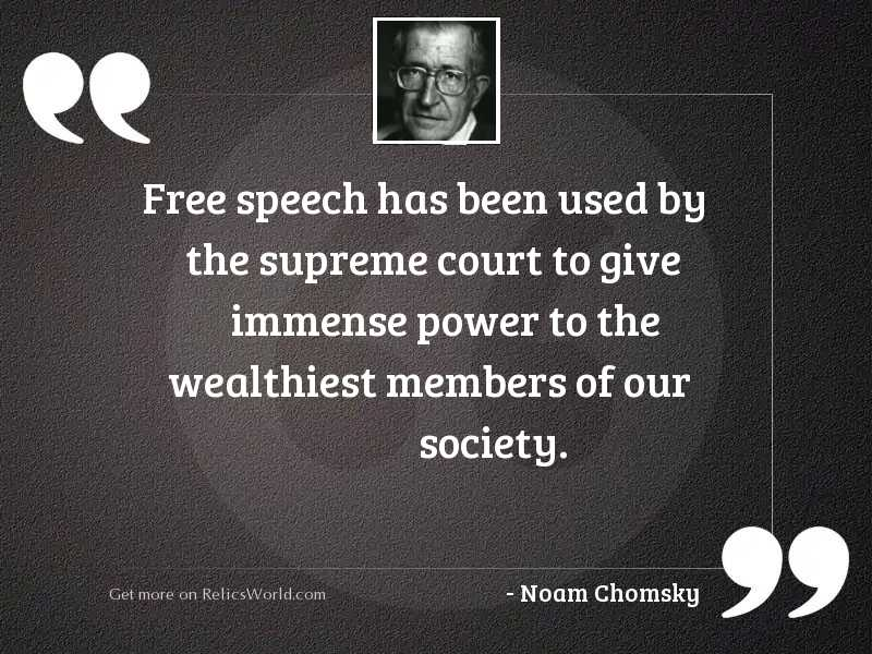 Free speech has been used