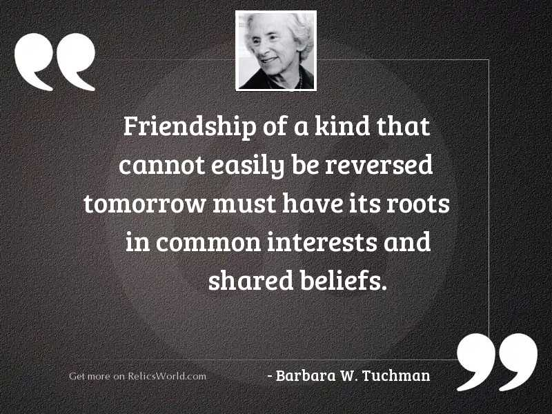 Friendship of a kind that