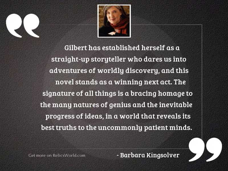 Gilbert has established herself as