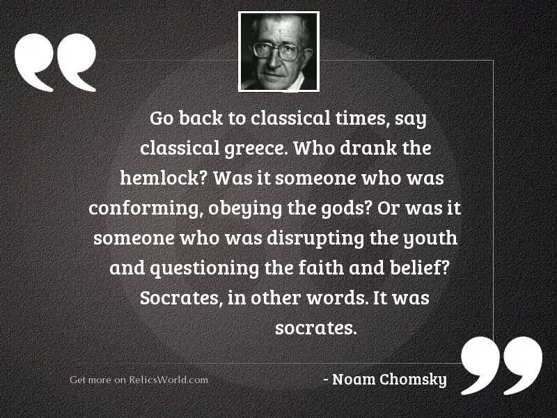 Go back to classical times,