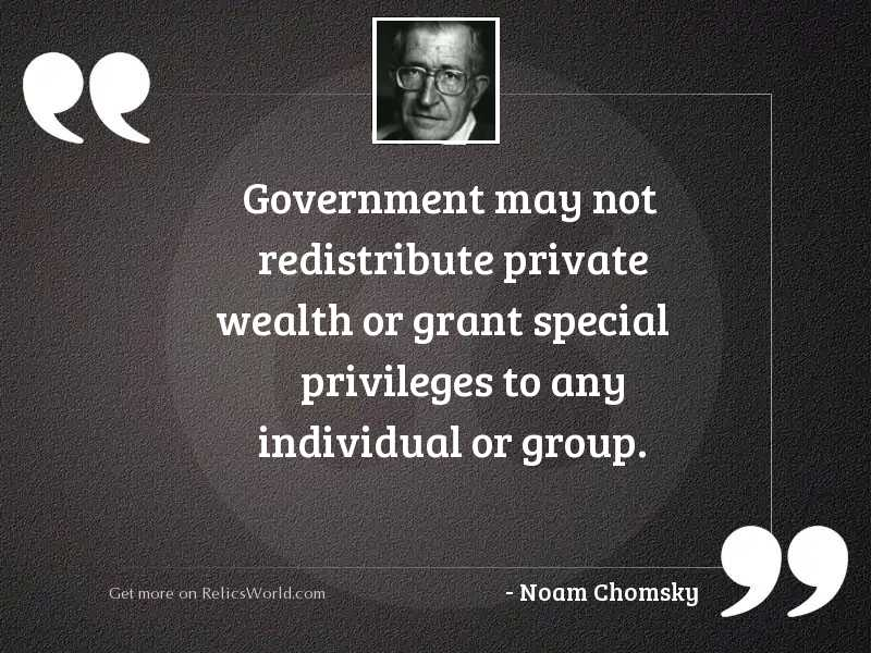 Government may not redistribute private