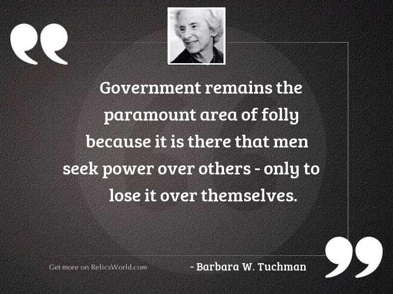 Government remains the paramount area