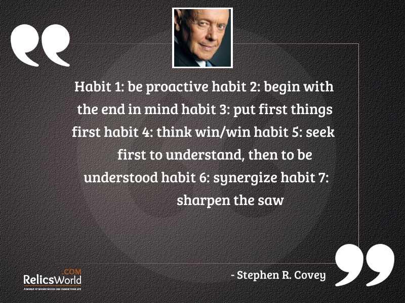 Habit 1 Be Proactive Habit 2 Begin