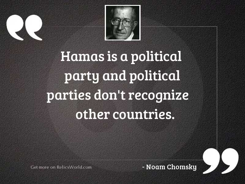 Hamas is a political party