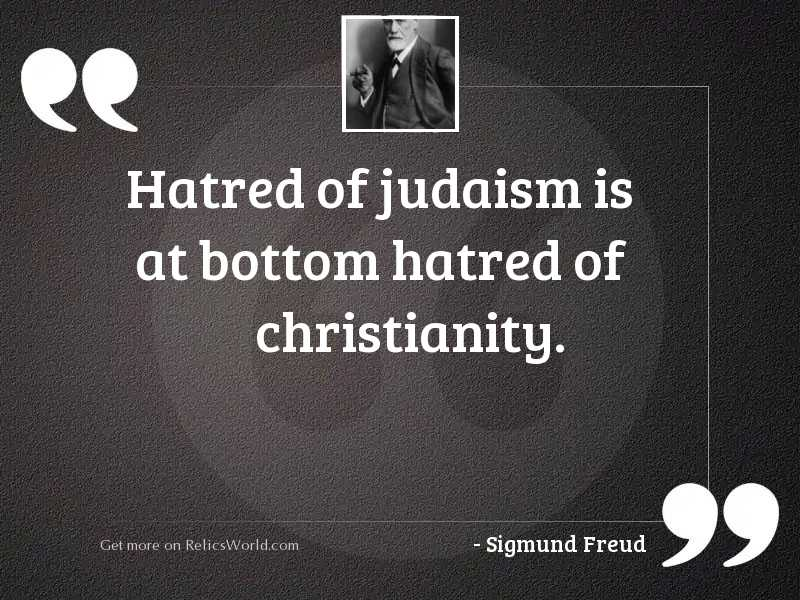 Hatred of Judaism is at