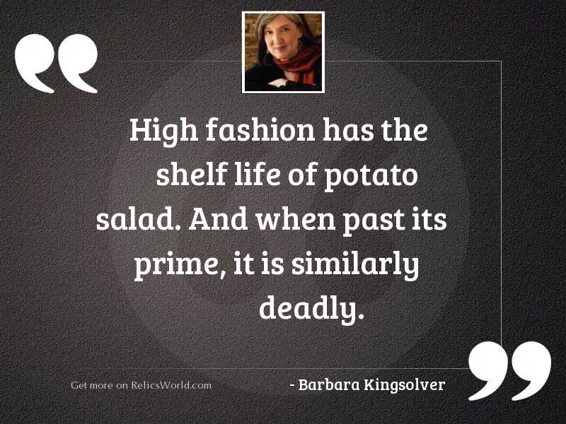 High fashion has the shelf
