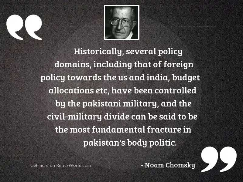 Historically, several policy domains, including