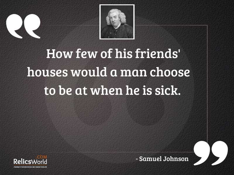 How few of his friends