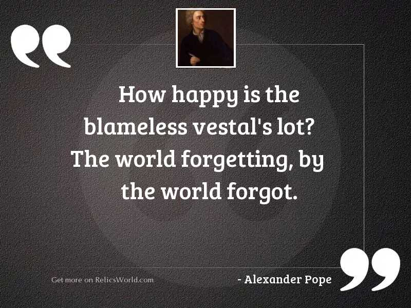 How happy is the blameless