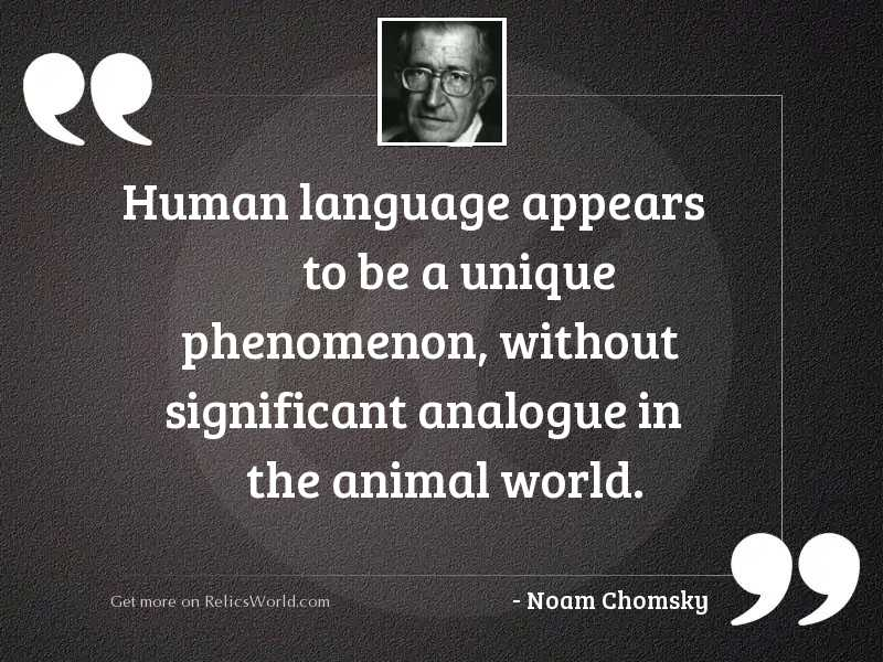 Human language appears to be