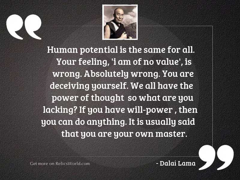 Human potential is the same